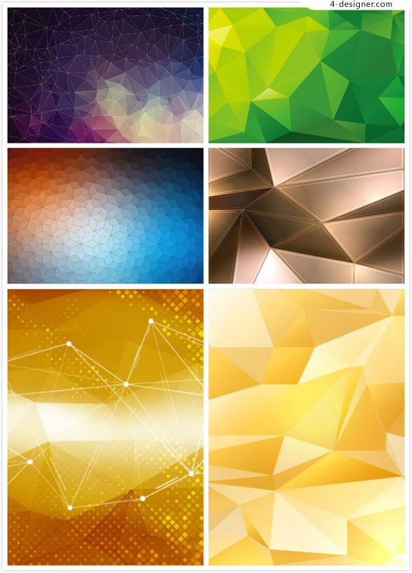 Colorful background polygon
