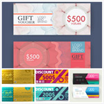 Colorful discount card