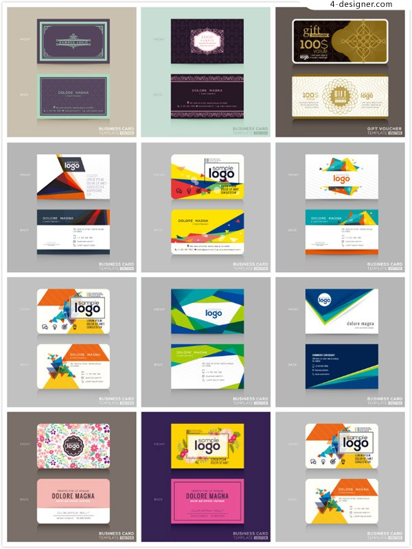 Concise business card design vector