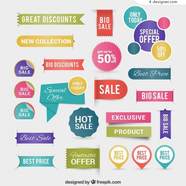 Discount label vector