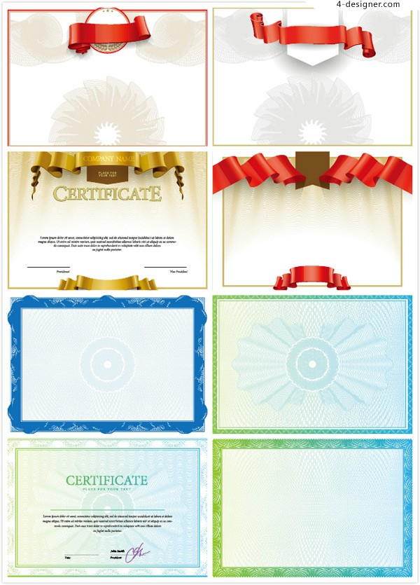 European lace pattern certificate