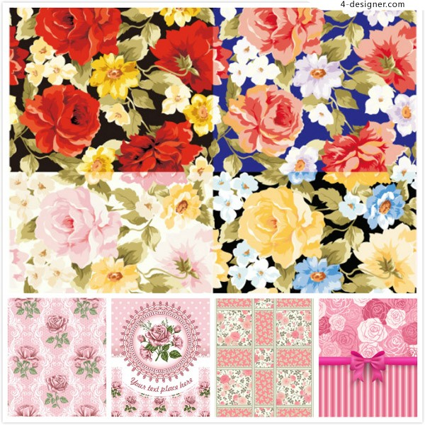 Flower and flower background vector