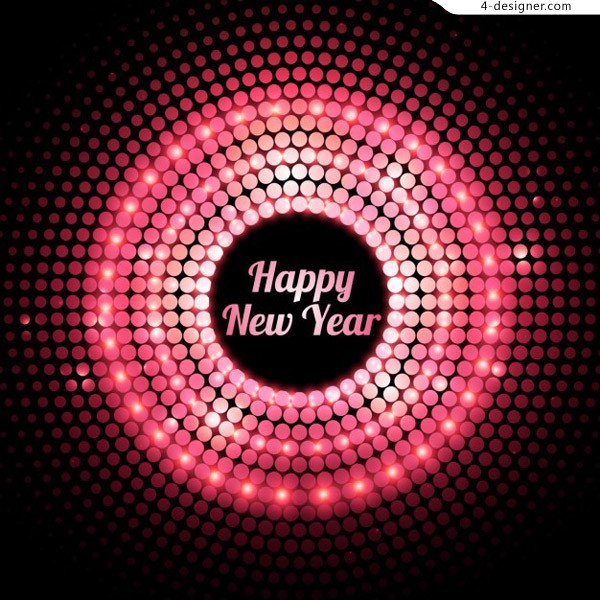 Happy new year light background