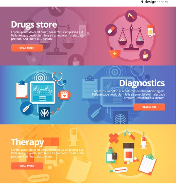 Health care web banners