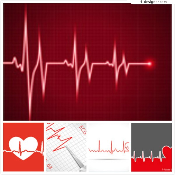 Love and ECG vector
