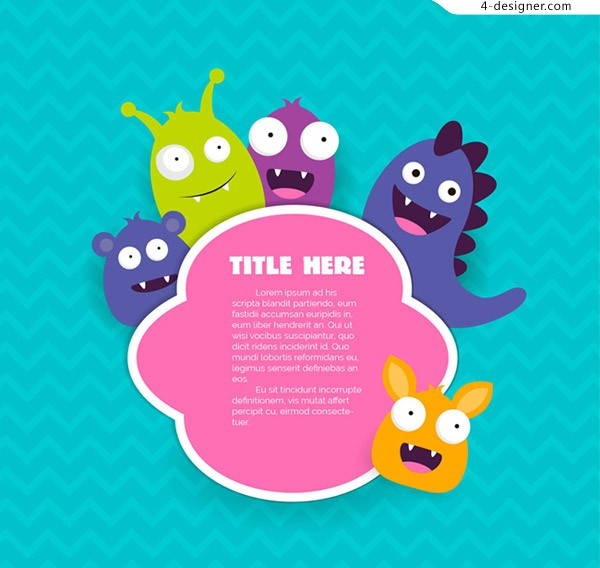 Monster tag vector