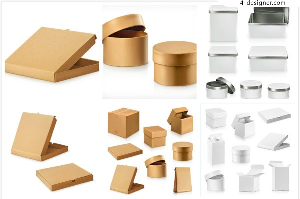 Packing box design vector