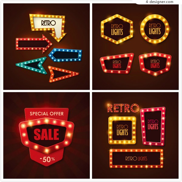 Promotional neon vector
