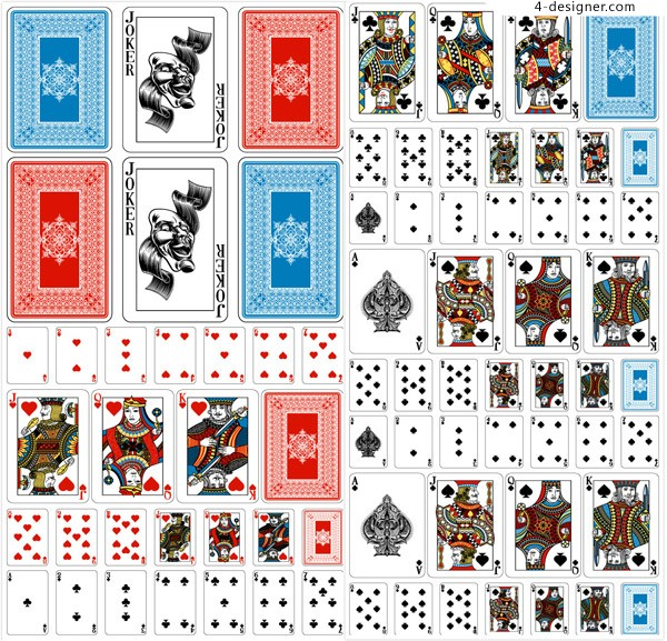 Set vector of playing cards