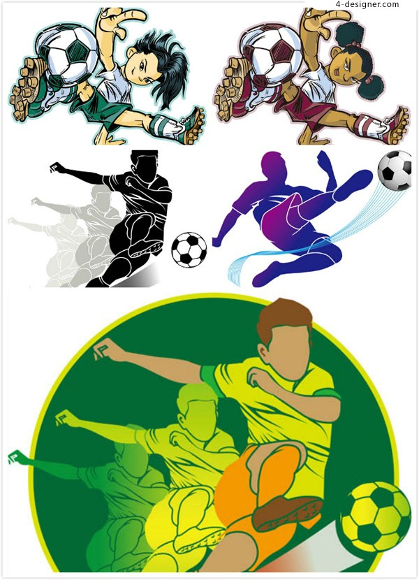 Soccer character vector