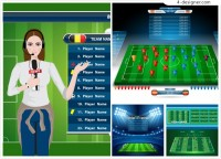 Soccer game interface