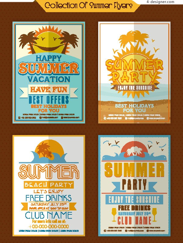 Summer Theme pop Poster