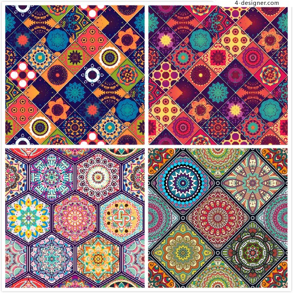 The background of classical ethnic patterns