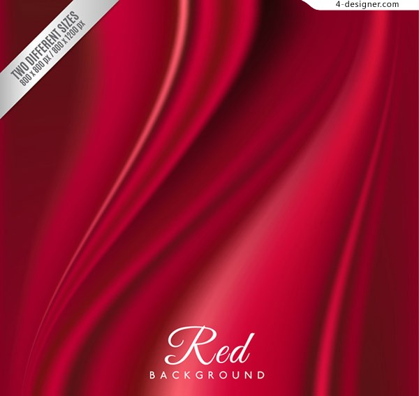 The red silk background