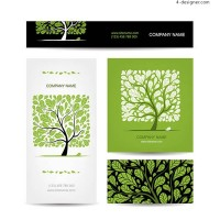 Vector tree name card