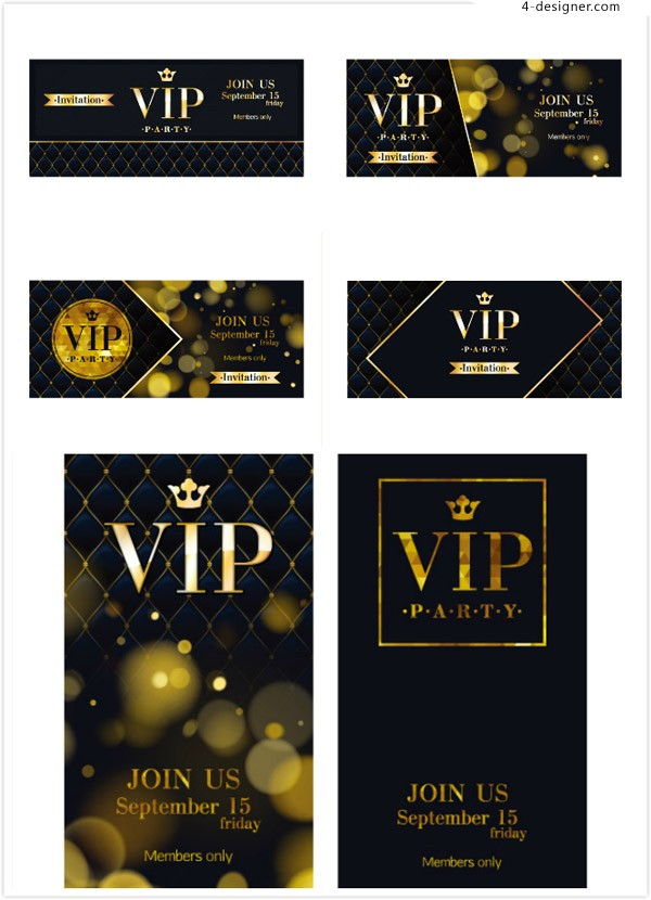 Vip card business card