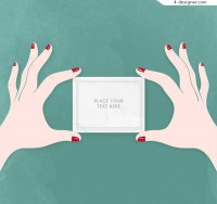 Women s hands with cards