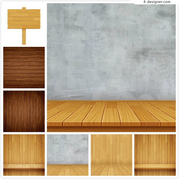 Wooden booth background