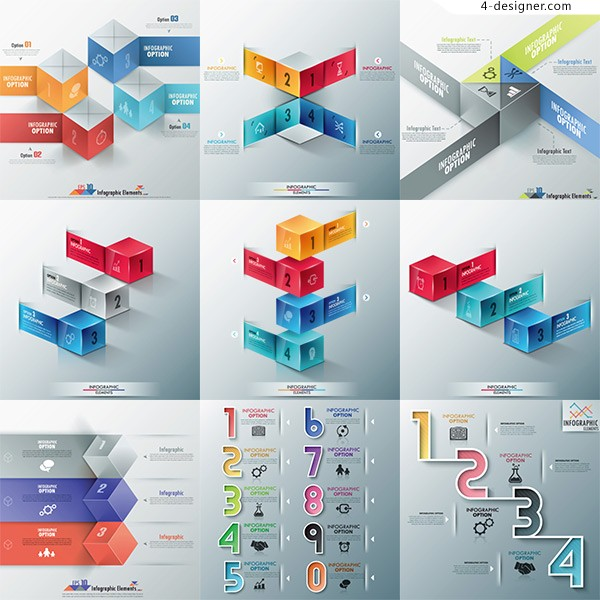 3D business information vector