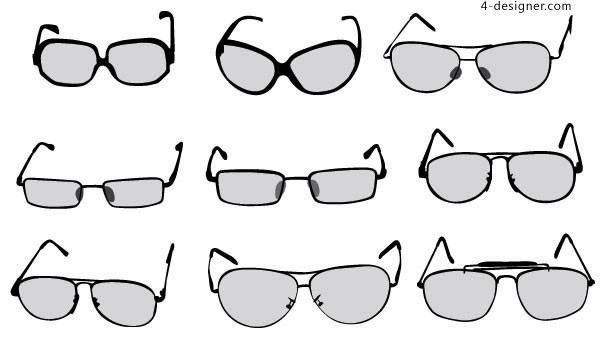 A variety of glasses vector