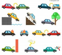 Accident vehicle vector