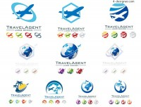 Aircraft travel agency LOGO