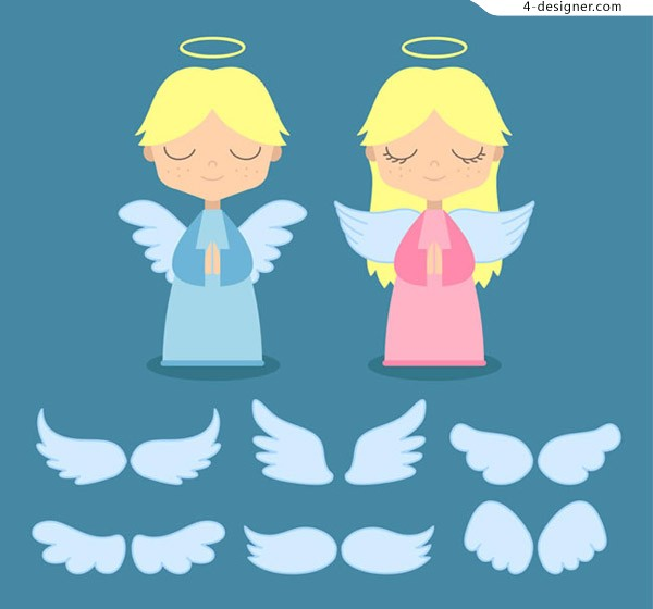 Angel and wing vector