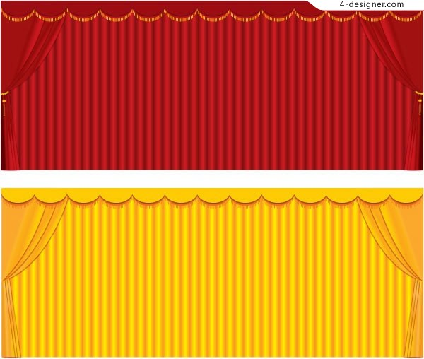 Background vector of curtain