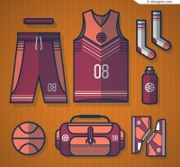 Basketball supplies vector