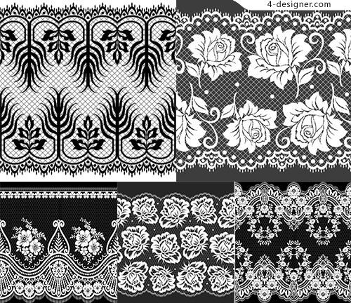 Black and white lace line