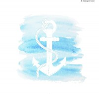 Blue color boat anchor