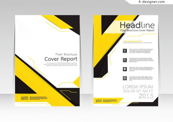 Business brochure page