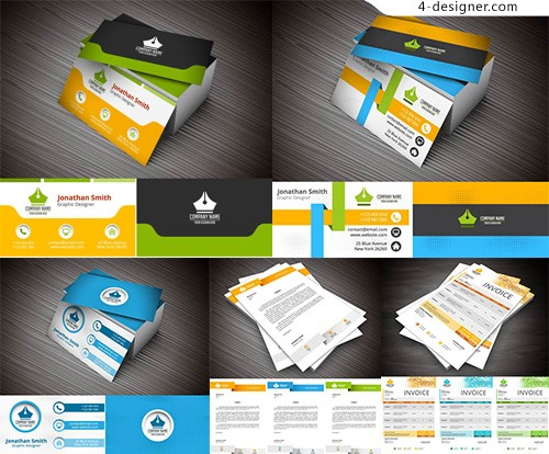 Business card and single page vector
