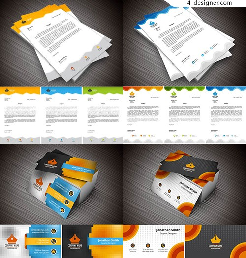 Business card design and pattern