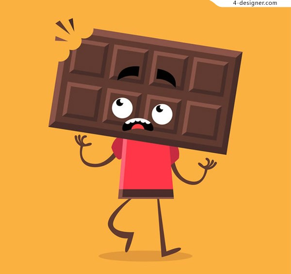 Chocolate man vector