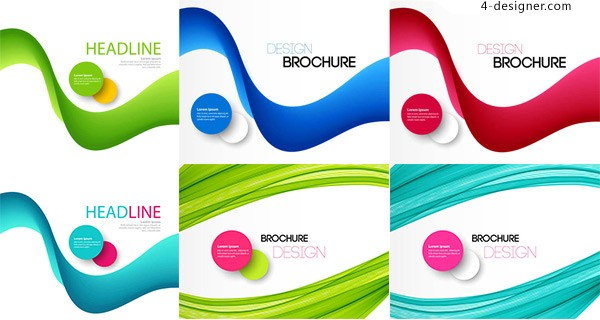 Circular curve abstract background
