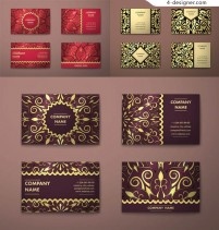 Decorative card with decorative pattern