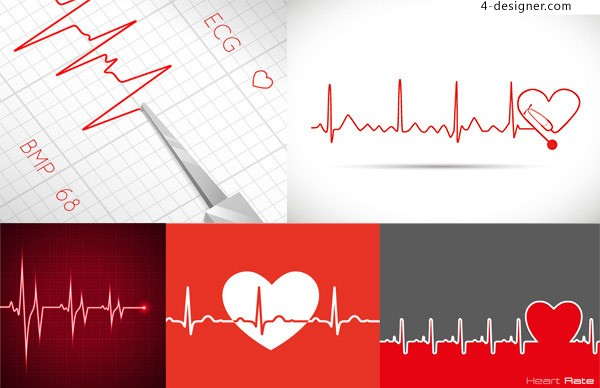 ECG background vector