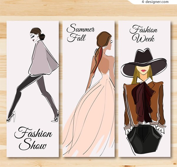Fashion girl banner