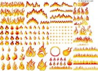 Flame design vector