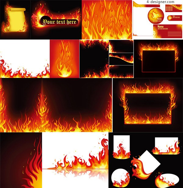 Flame element decoration