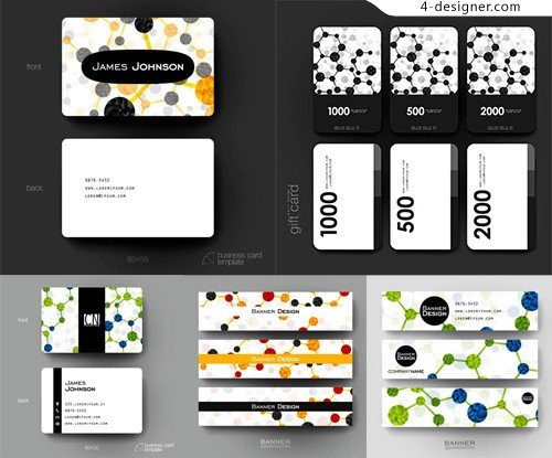 Gift cards with molecular structure