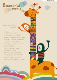 Giraffe illustration for children