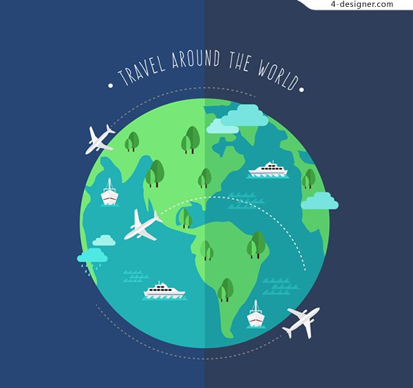 Global travel illustration