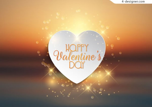 Golden Valentine s Day card