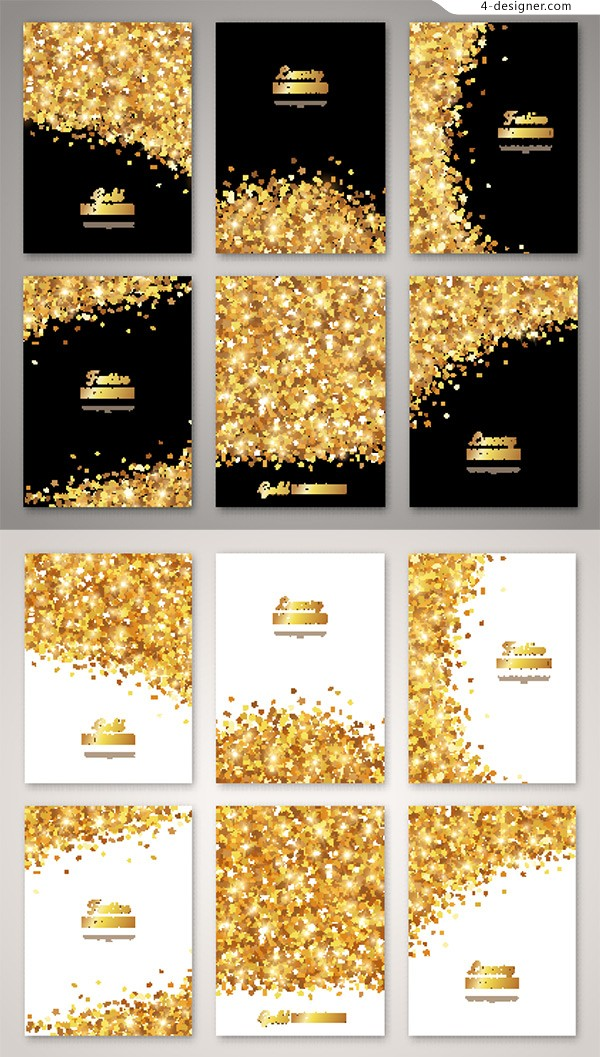 Golden particle album page