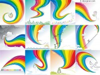 Gorgeous rainbow vector