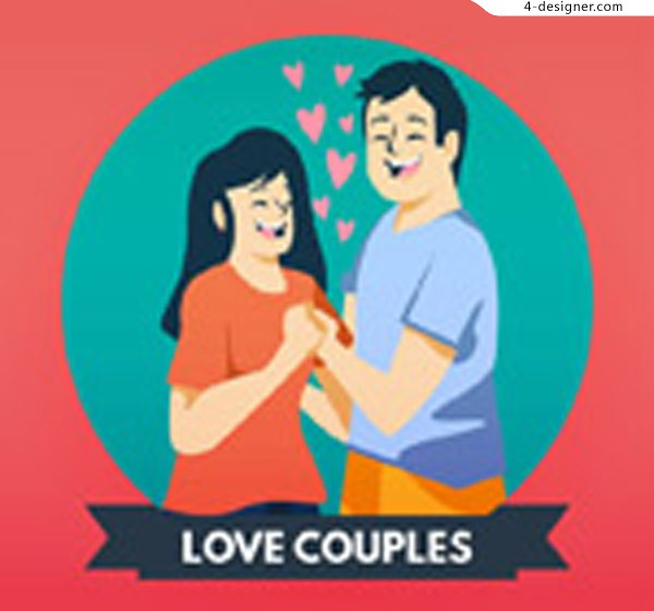 Handle lovers vector