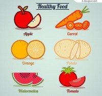 Healthy fruit and vegetable vector