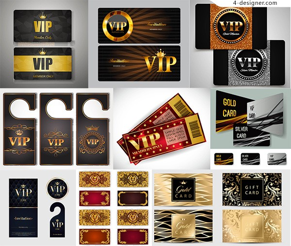 Luxury VIP card vector